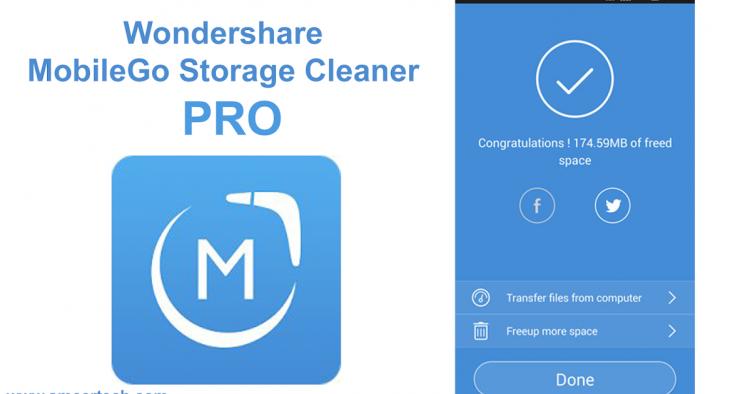 Ứng dụng Wondershare MobileGo Storage Cleaner
